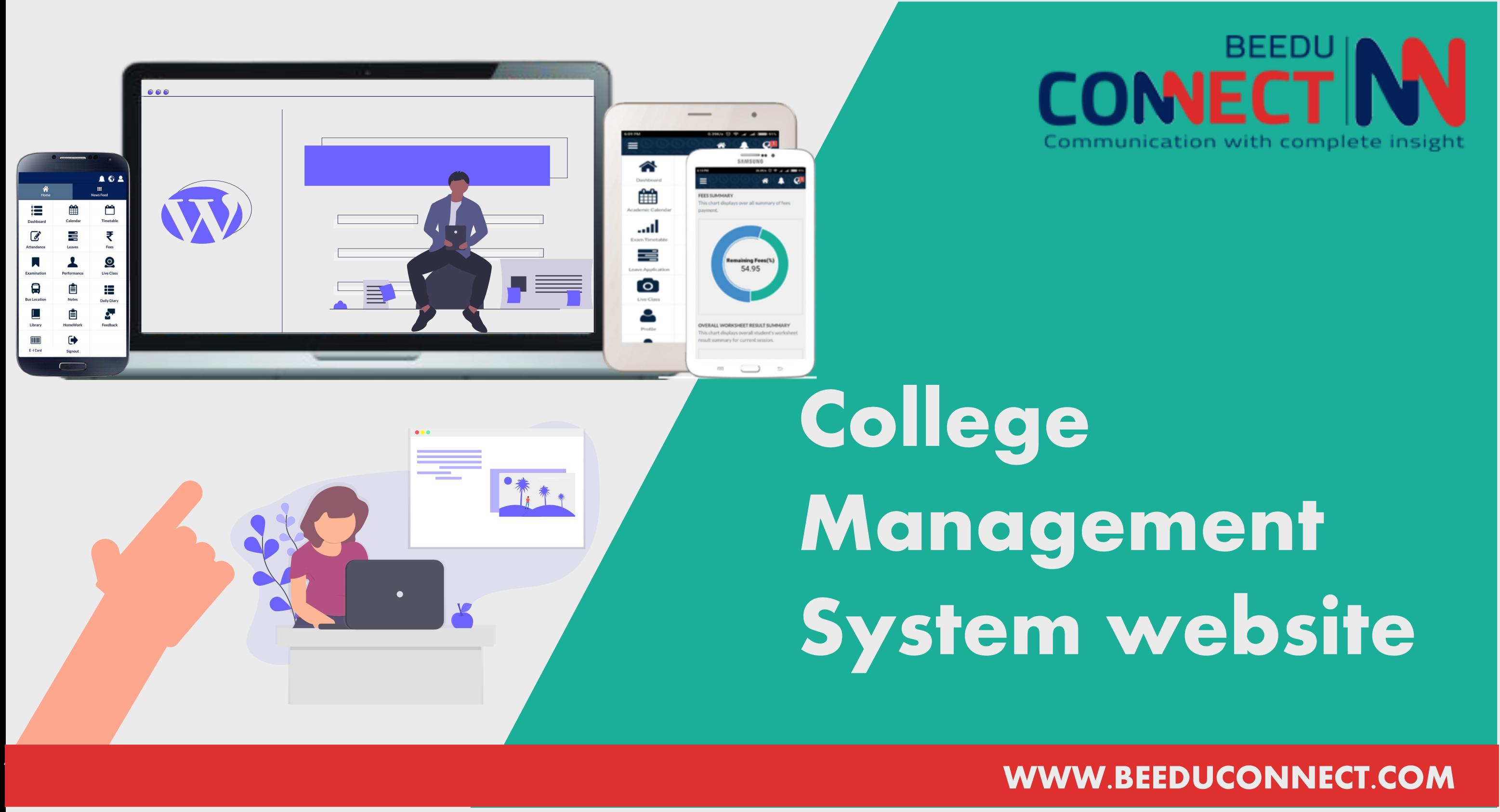 College management system website